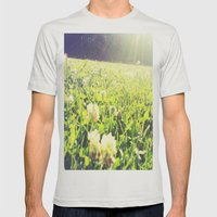 Field of Dreams Mens Fitted Tee Silver SMALL