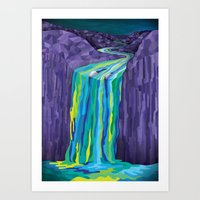 The Great Waterfall Art Print