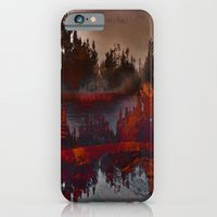 iPhone & iPod Case featuring Red Trees by alleira photography