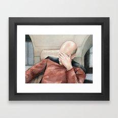 Picard Facepalm Meme Framed Art Print