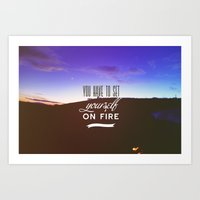You Have To Set Yourself… Art Print