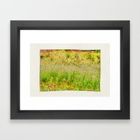 Wildflower Meadows. Framed Art Print