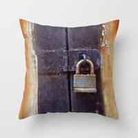 Locked Throw Pillow
