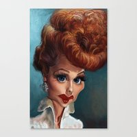 Lucille Ball. Canvas Print