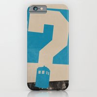 doctor who iPhone & iPod Cases featuring Doctor  Who? by Travis English