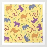 Animal Colorfulness Art Print
