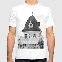 Beach Hut (II) Mens Fitted Tee White SMALL