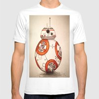 BB-8 Mens Fitted Tee White SMALL
