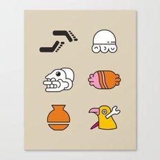 AZTEC /Nahuatl/ Glyphs Canvas Print