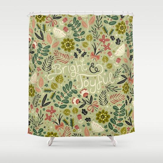 bright joyful shower curtain by anna deegan society6