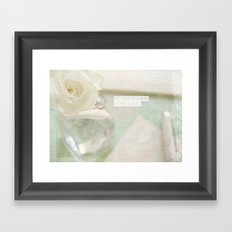 Do all things with love. Framed Art Print