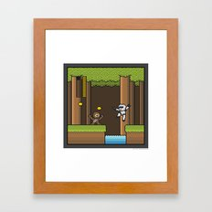 Mega Boss Battles - Chewie vs. Scout Trooper Framed Art Print