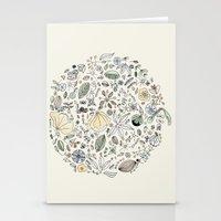 Circulo de flores Stationery Cards