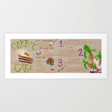 Carrot Cake Recipe  Art Print