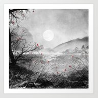 Art Print featuring The Red Sounds And Poems… by Viviana Gonzalez