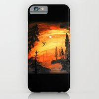 iPhone & iPod Case featuring Fire Sunset Over River by Andrew Sliwinski