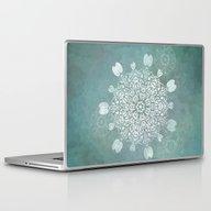 Turquoise Batik Mandala … Laptop & iPad Skin