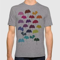 Ginkgo Multicolor Mens Fitted Tee Athletic Grey SMALL