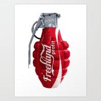 Branding Wars Grenade Art Print