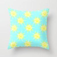 Unicorn Sun Throw Pillow