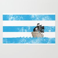 Pirates Love Stripes Rug