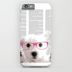 Dog with glasses iPhone 6 Slim Case