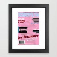 Cosmarxpolitan, Issue 12 Framed Art Print