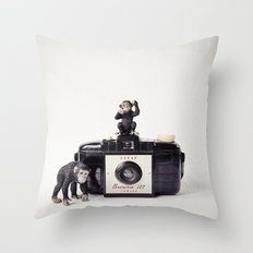 The Monkies and The Brownie Throw Pillow