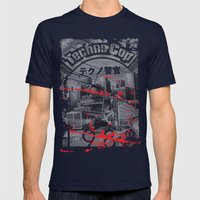 Techno Cop Mens Fitted Tee Navy SMALL