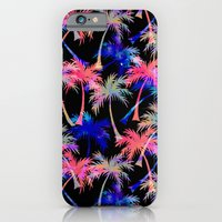 iPhone & iPod Case featuring Falling Palms - Nightlight by Schatzi Brown