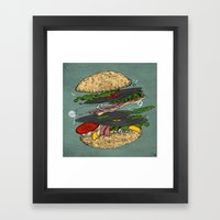 Vinyl Burger Framed Art Print