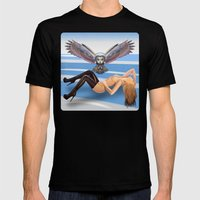 winter paradise  Mens Fitted Tee Black SMALL
