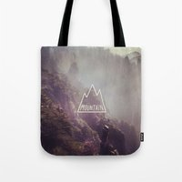 Mountain Lettering Tote Bag