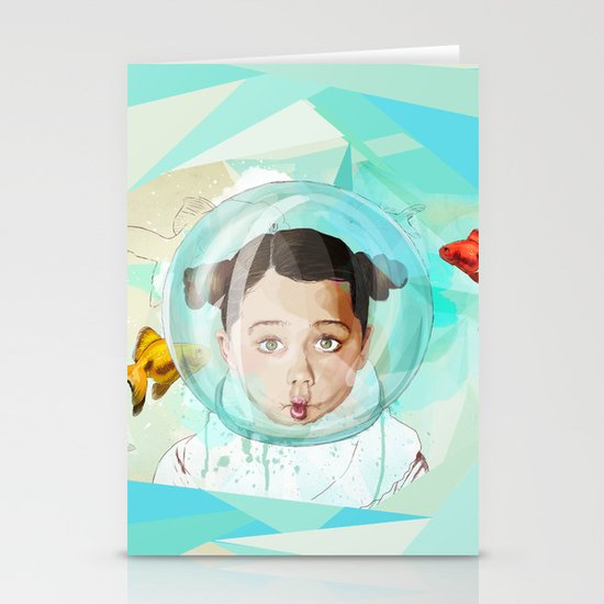 Fish Girl Stationery Card