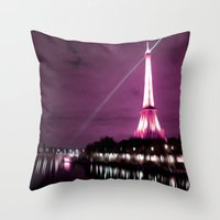 Paris in oil Throw Pillow