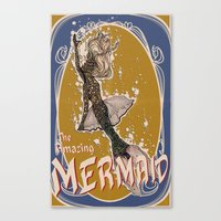 The Amazing MERMAID Canvas Print