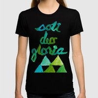 SOLI DEO GLORIA LIFE- BLUE Womens Fitted Tee Black SMALL