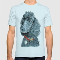 Whitney The Poodle Mens Fitted Tee Light Blue SMALL