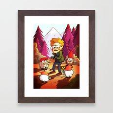Supernatural: Gravity Falls style Framed Art Print