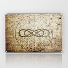 Double Infinity Silver Gold antique Laptop & iPad Skin