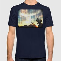 Enter To The Divine Mens Fitted Tee Navy SMALL
