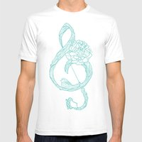 G-Clef Mens Fitted Tee White SMALL