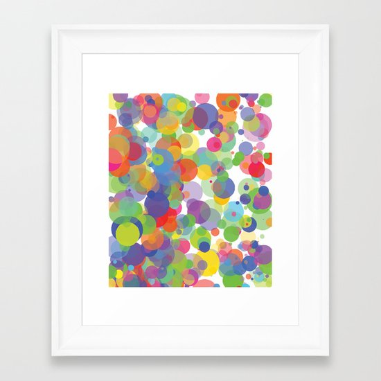 Candy Dots Framed Art Print
