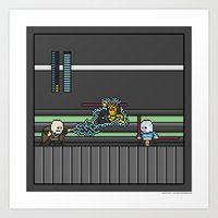 Mega Boss Battles - Dooku vs. Asajj & Savage Art Print