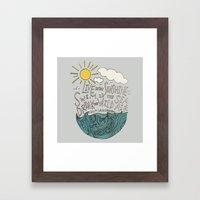 Emerson: Live in the Sunshine Framed Art Print