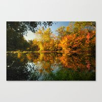 Fall On The Olentangy Ri… Canvas Print