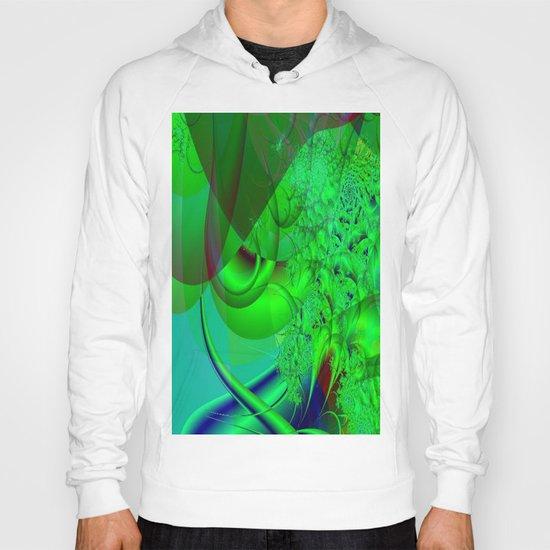 Abstract Green Algae Hoody
