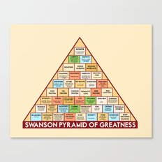 Ron Swanson's Pyramid Of… Canvas Print