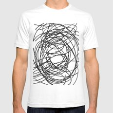 Circles SMALL Mens Fitted Tee White
