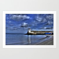 Balbriggan Lighthouse Art Print